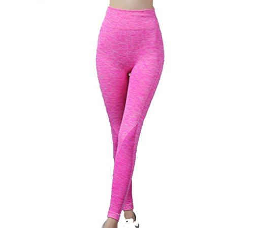 Hippolo Damen Sporthose Yoga Fitness Gym Laufen Jogging Tennis Squash Hockey Leggings Stretch-hose (M/L, rote)