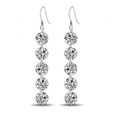 Sukkhi Cubic Zirconia Drop Earrings for Women (Silver)(E80767)
