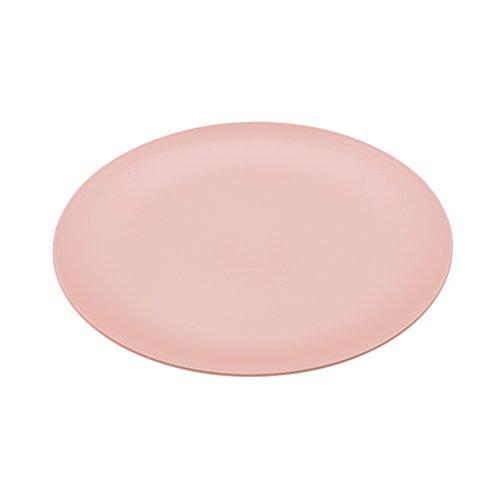 Koziol Flacher Teller Rondo, Kunststoff, Powder Pink, 26.2 x 26.2 x 1.7 cm