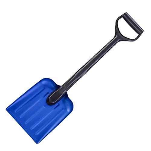 Pala de aluminio de la nieve/del jardín/del deporte, conveniente para el almacenamiento del coche o del camión (longitud los 69.5cm, hoja de los 25.5cm x los 20.5cm)