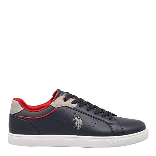 U.S. Polo Assn. Racy Club Sneaker Uomo, Blu (Dk Bl 002) 42 EU