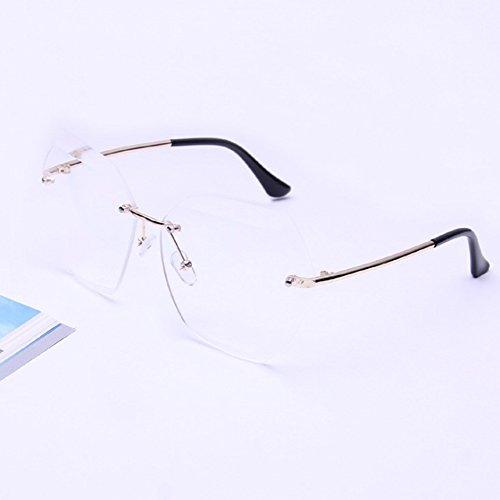 Lubier Damen Sonnenbrille Transparent Durchsichtig Middle