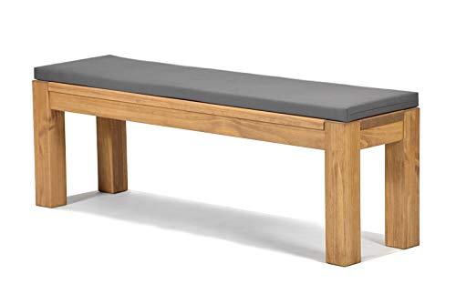 Sitzbank Rio Bonito 120x38cm + Bankauflage anthrazit, Holzbank Massivholz Pinie, geölt und...