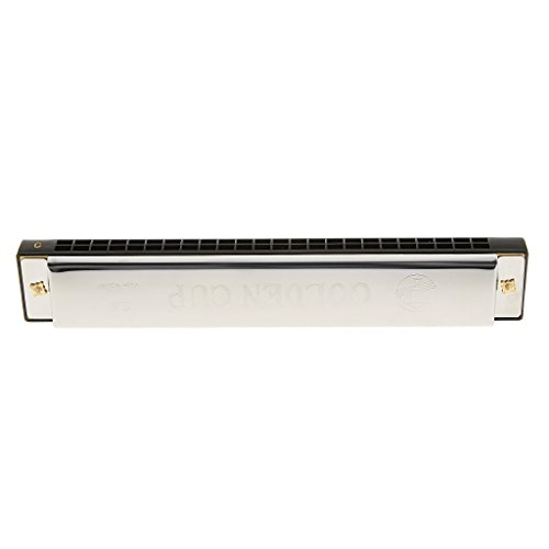 Imported Swan Tremolo Blues Harmonica 24 Holes 48 tones C Key mouth organ Black  available at amazon for Rs.520