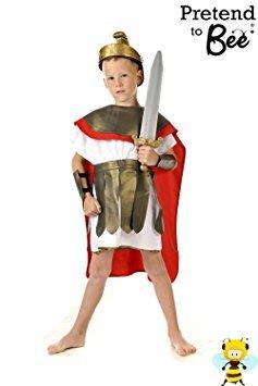(Jungen römischen Gladiator Krieger Historisches Kostüm 3-5 Jahre [Spielzeug])
