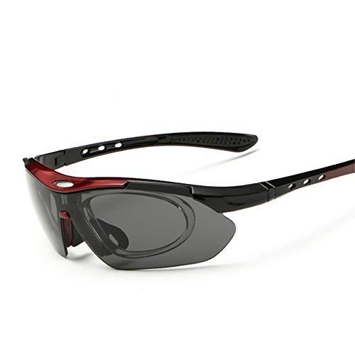 Happy Together Großhandel Outdoor Anzüge Fahrrad Reitbrille Sonnenbrille 5 Stück Sport Polarisation Schützen Sie Sich vor dem Schlag Sand Brille Box