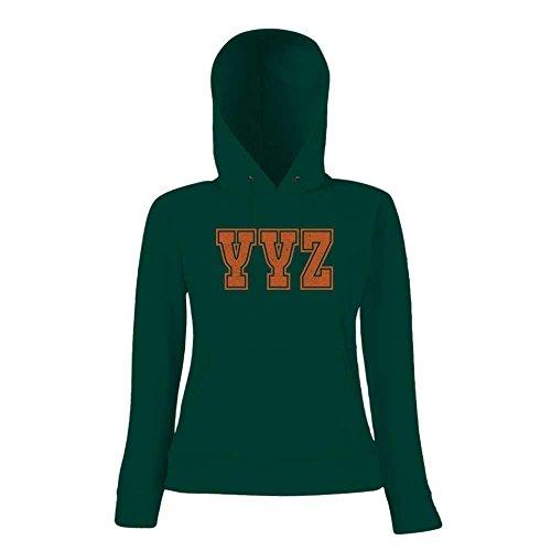 YYZ Premium Hoody   Airport-Hoody   Toronto   Reisen   Frauen   Kapuzenpullover © Shirt Happenz Dunkelgrün