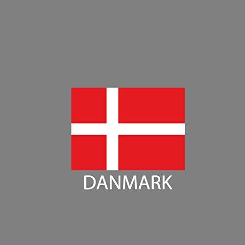 Dänemark / Danmark - Herren T-Shirt Dunkelblau