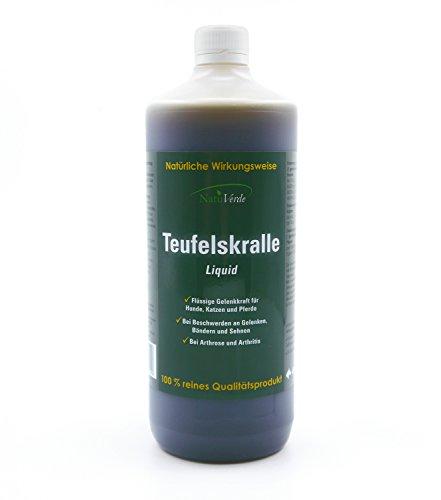 NatuVerde Teufelskralle Liquid, 1l, flüssige Gelenkkraft für Hunde, Katzen und Pferde