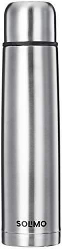 Amazon Brand - Solimo Stainless Steel Insulated Bottle with Flip Lid and Cover, 24 Hours Hot or Cold, 1000ml