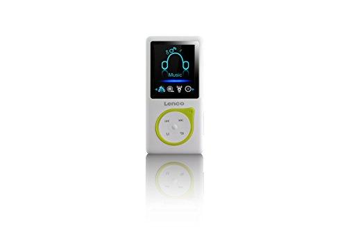 Lenco MP3-Player Xemio-668 - MP3-MP4-Player, 8 Gb Micro SD-Karte Inklusive kopfhörer - grün (Sd-karte Mp4-player)
