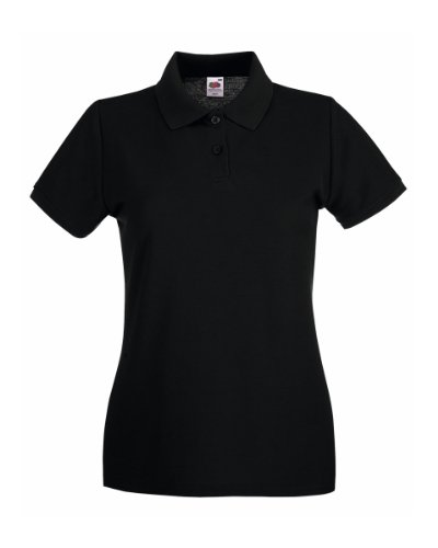 Fruit Of The Loom Lady-Fit Premium Polo Shirt L,Schwarz