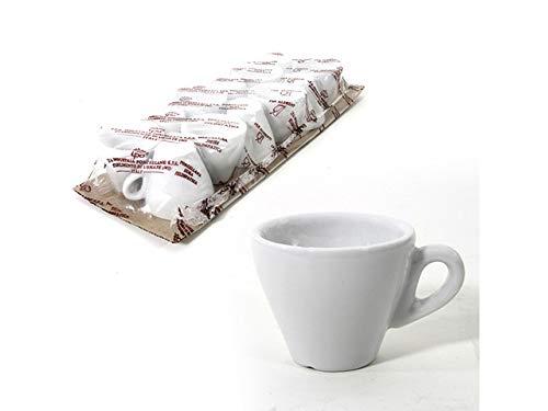 Set 6 tazza caffe pera tazzina da caffè bar bianca senza piattino- made in italy