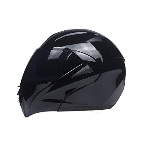 OLEEKA Casco de moto de cara completa Casco de bicicleta de calle, diseño elegante y ligero que reduce el ruido del viento