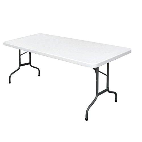 Bolero U579versenkbarer Utility Tisch, 1,8m, 6', weiß
