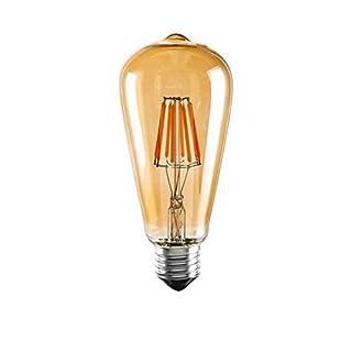 Lightoray [St64 Glühlampe Braun] Edison Amber Retro Vintage amerikanische industrielle LED dekorative Birne 6W Perfekt für Bar Restaurant Coffee Shop und Heimgebrauch