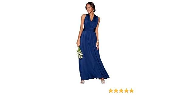 Debut Womens Navy Multiway Full Length Dress XL: Debenhams: Amazon.co.uk: Clothing