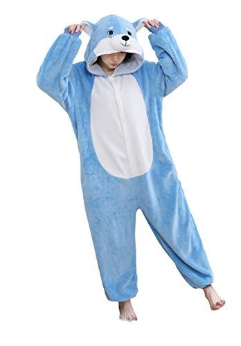 Für Erwachsene Blau Pyjama Kostüm - URVIP Neu Unisex Adult Pyjama Cosplay