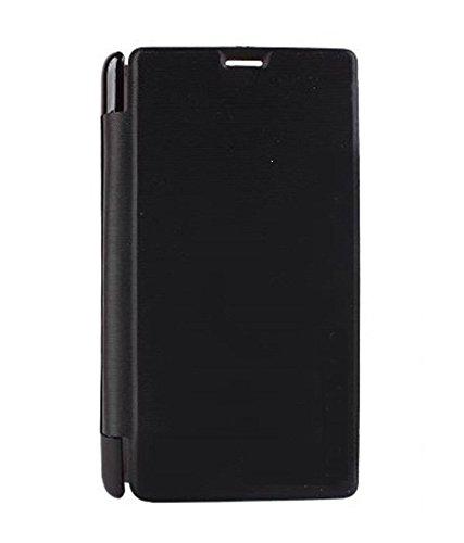 Avzax Flip Case Cover For MicromaxCanvas Spark 3Q385 - Black