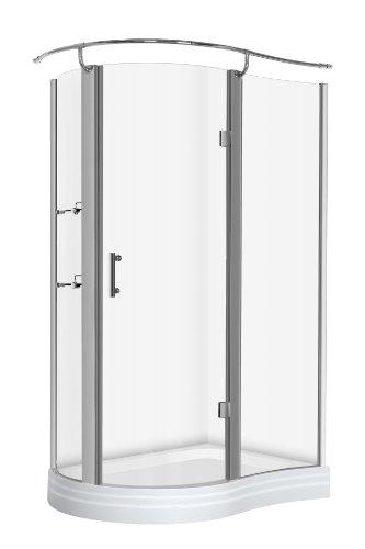 Rund-Duschkabine mit Duschbecken 120x90x215