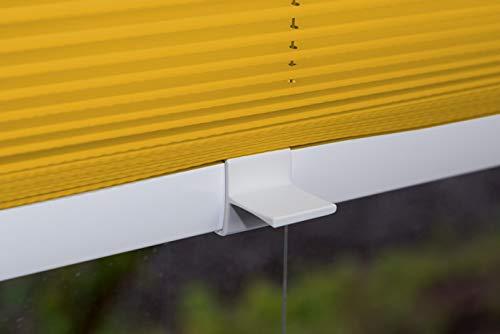 VICTORIA M Plissee Klemmfix ohne Bohren – EasyFix Größe: 100 x 150 cm, Farbe: gelb - 3