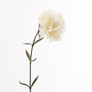 artplants – Clavel artificial, crema, 65cm, Ø9,5cm – Planta sintética / Flor decorativa