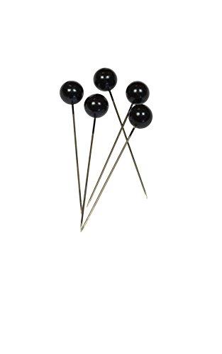 Corderie Italiane 006042495 Deko-Nadeln, Durchmesser: 6 x 65mm, 100 Stück, Schwarz