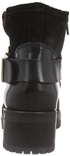 Buffalo Es 30612 Trend Plisse Mask, Bottes de motard courtes, doublure froide femme Noir - Schwarz (NERO 19)