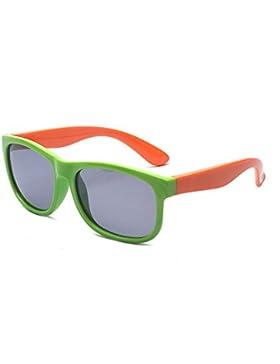 ALWAYSUV Flexible Gummi Kinder Polarisierte Sonnenbrillen für Jungen und Mädchen Alter 3-10