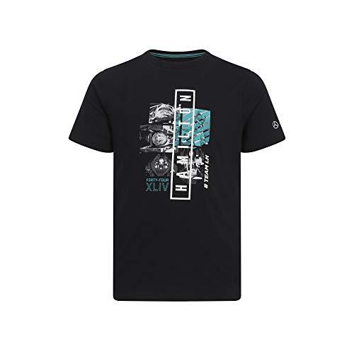 Preisvergleich Produktbild MERCEDES AMG PETRONAS Motorsport 2019 F1TM Lewis Hamilton Graphic T-Shirt Black XL