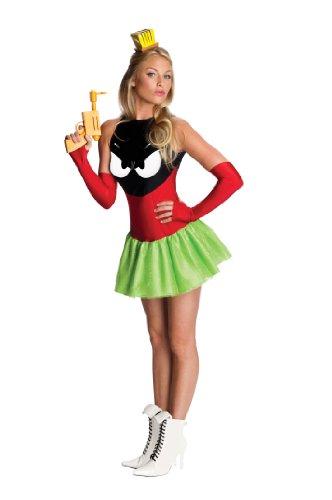 Sexy Marvin der Marsmensch Kostüm - grün/rot - (Marvin Kostüm Marsmensch Der)