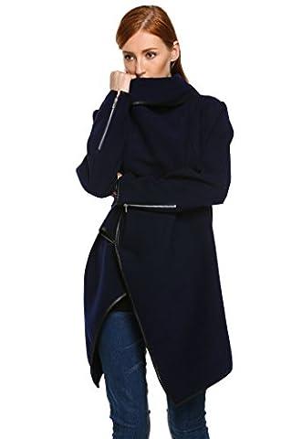 Zeagoo casual manteau/veste coupe vente de laine longue chaud Irrégulière - parka tranchée blousons - EU36/38/42/46/50 - 2015 fashion femme