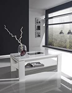 Table basse relevable contemporaine CELESTINA, disponible en 3 coloris Noyer