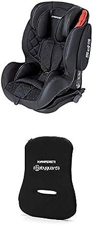 Foppapedretti Isodinamyk Seggiolino Auto, Unisex Bambini, Nero + Dispositivo Antiabbandono, Nero
