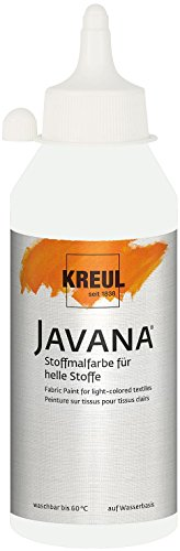 KREUL 91311 - Textil Sunny Stoffmalfarbe, 250 ml Flasche, weiss