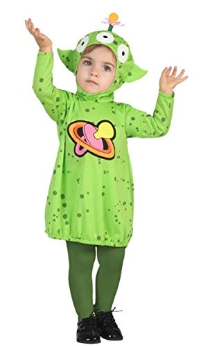 Fancy Me Baby Jungen Mädchen Green Space Alien Halloween Karneval Kostüm Outfit