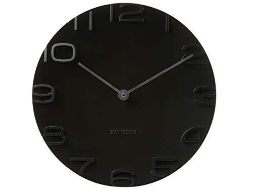 Karlsson On The Edge Uhr, Wanduhr, Kunststoff, Schwarz, One Size