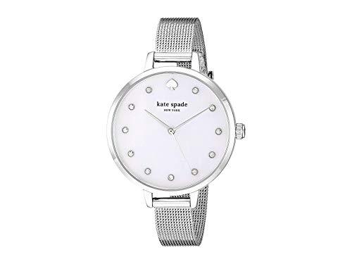 Kate Spade argento quadrante bianco & maglia da donna orologio KSW1490