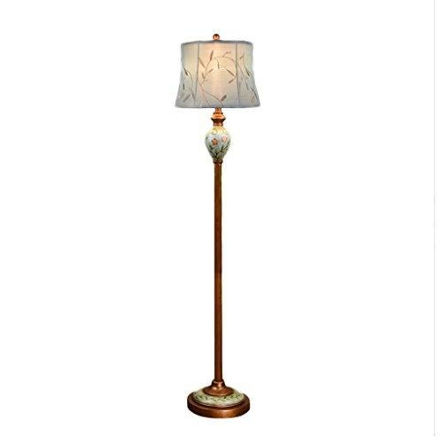 Retro nostalgie design stehleuchte, wohnzimmer schlafzimmer lounge restaurant vertikale große tischlampe E27 stickerei tuch nachttischlampe