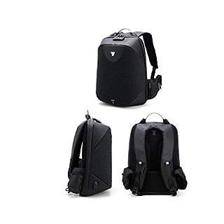 Charles Anti Theft Zoll-Schloss Laptop Rucksack Tasche mit USB-Ladehafen - Schwarz