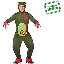 Atosa-26626 Disfraz Rana Color verde XL (26626