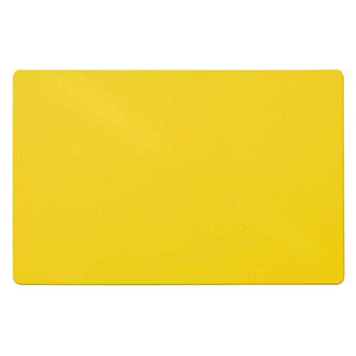 Trendige Bodenschutzmatte für Hartböden   PVC- und phthalatfrei   Gelb   120 x 75 cm
