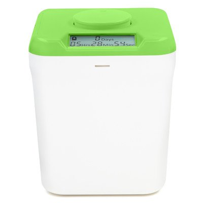 Height (Kitchen Safe: Verschließbarer Behälter mit Zeitschaltuhr (Green Lid + White Base) - 5.5