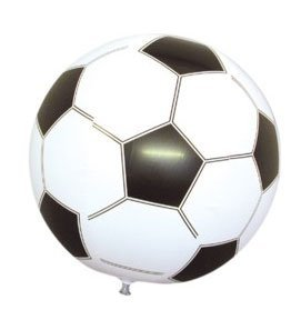 2 x Inflatable Party Time Footballs 40 cm