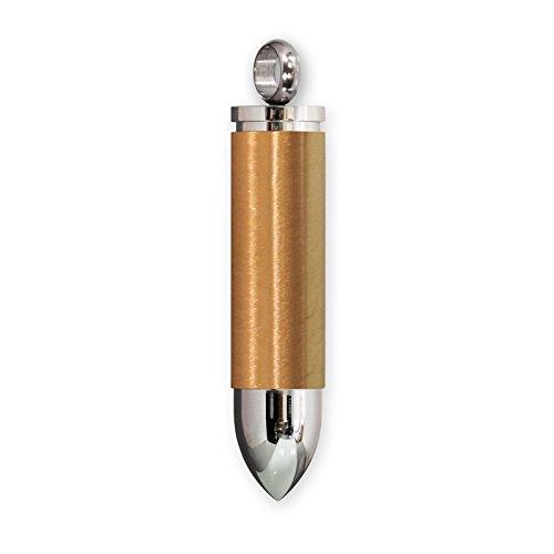 (Fly Style Anhänger Patrone mit Halskette Pillenbox aus Edelstahl, Farbwahl:gold)