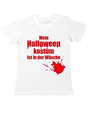 clothinx Kinder T-Shirt Mein Halloween-Kostüm ist in der Wäsche Weiß Größe 116