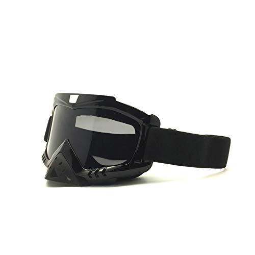 Coniea Fahrradbrille Sehstärke TPU+PC Nachtsichtbrille Autofahren Damen Schutz Brille Schwarz Braun