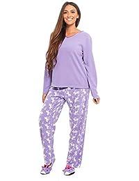 INSIGNIA Ladies Pyjamas 3 PCE Fleece Sets Loungewear with Slippers