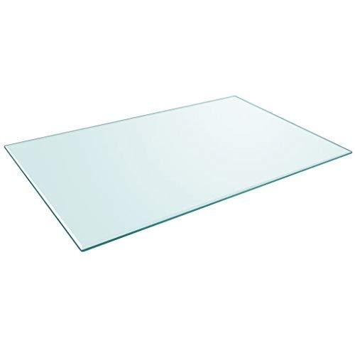 Premium Glasplatte 1200x650 mm Rechteckig aus gehärtetem Sicherheitsglas | Dicke 8 mm ESG | Tischplatte Glastisch Kaminplatte Kaminglas Ofenglas | Bodenplatte Glasbodenplatte | Klar-Glas Glasscheibe -