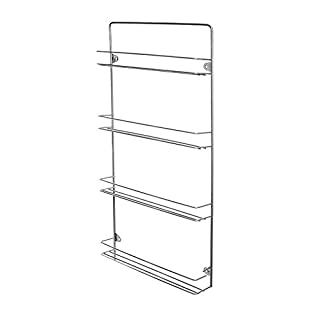 Customize Your British Spice Rack With Colour And Size To Suit Your Kitchen (4 Tier, Chrome)